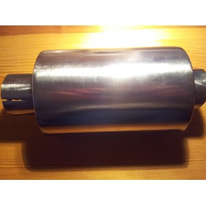 Stainless steel shorty exhaust can