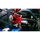 Triumph 675 Street Triple rearsets with pegs