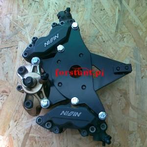 2x Nissin + FB Suzuki GSXR K4 K5 HB bracket
