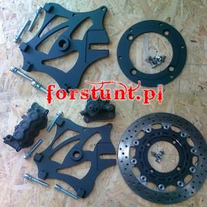 2x Monoblock + FB Honda F4i big rotor kit