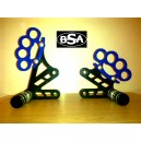Suzuki GSXR K4 steel rearsets with pegs