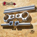 Forstunt adjustable clip-ons raw silver