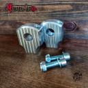 CNC drilled aluminium risers for 28,6mm dirt bar