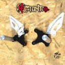2009-2012 ZX6R steel rearsets with pegs