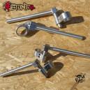 Regulowane clip-ony CNC srebrne