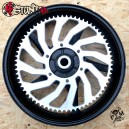 68T 525 Yamaha R6 alu CNC rear sprocket